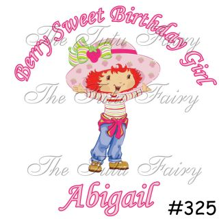 Strawberry Shortcake Baby Toddler Girl Birthday Name Age 1st 2nd 3rd Customized