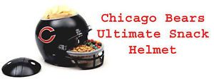 Tailgate Party Supply Chicago Bears Chips Dips Snack Full Size Helmet Discounted