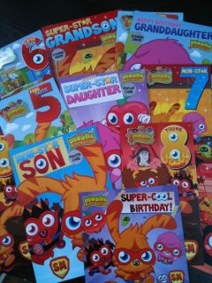 Moshi Monsters Birthday Cards in Stock Genuine Free 1st Class Postage