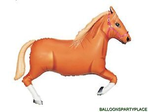 A Horse Balloon Tan Pony Western Party Supplies Rodeo Riding Birthday Supplies