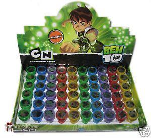 6 Ben 10 Self Ink Stamps Party Favors Loot Reward Craft Supplies Scrap Booking