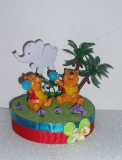 Winnie The Pooh Twins Topper Diaper Cakes Baby Shower Centerpiece Favor Gift