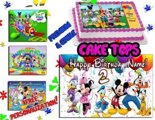 Mickey Mouse Clubhouse Birthday Cake Topper Edible Icing Image Sheet Sugar Photo