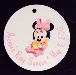 10 Baby Minnie Mouse Baby Shower Favor Tags Text Customized