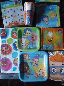 Bubble Guppies Birthday Party Supplies Banner Plates Napkins Tablecover Cups