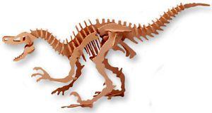 3D Woodcraft Velociraptor Dinosaur Educational Puzzle
