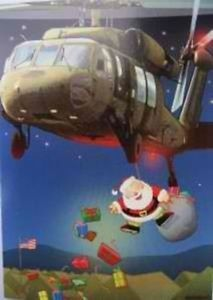 18 Paratrooper Santa Clause Christmas Cards Gifts Overseas US Military Troops