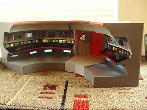 Star Trek USS Enterprise Model Bridge Transparent Prop Excelent AMT