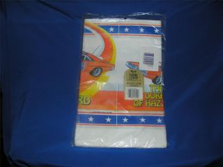 Vtg Dukes Hazzard 1981 Original TV Tie in Paper Birthday Party Tablecloth 52x96