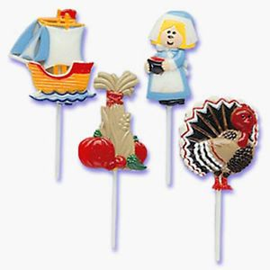 Thanksgiving Stickups Cupcake Picks Cake Toppers Party Supplies Decorations 12