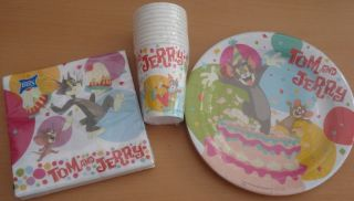 Tom and Jerry Cake Party Set for 10 Children Set A