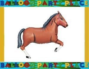Western Party Rodeo Birthday Shower Brown Horse Balloon Farm Supplies Decoration