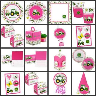 Pink John Deere Girl Birthday Party Supplies Choose Your Own Set Kit First 1st