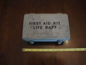 Vintage WWII First Aid Kit Life Raft Metal Box US Navy Coast Guard Military