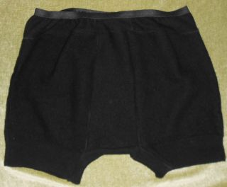 Adult Baby Pure Wool Boxer Brief for Man or Diaper Cover Black
