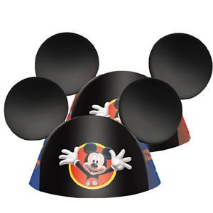 Disney Mickey Mouse Ears 8 Ct Birthday Party Cone Hats Supplies Favors