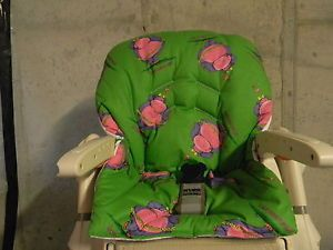 "Chicco Polly High Chair Cover Green Hippo ""How About A Little Lovin' """