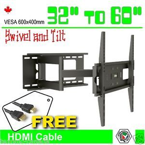 32 to 60 inch Swivel Articulating Plasma LCD LED TV Wall Mount Full Motion