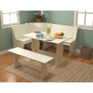 Breakfast Nook Kitchen Dining Room Table Chair Booth Seat Set Corner Bench Wood