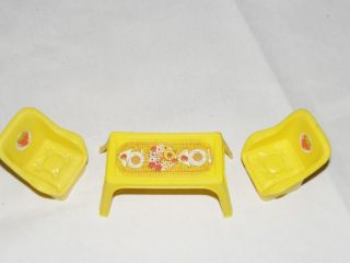 Strawberry Shortcake Furniture Yellow Chair and Table Set