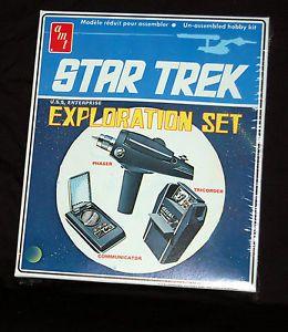 Star Trek 1974 USS Enterprise Exploration Set Model Kit SEALED Phaser Tricorder