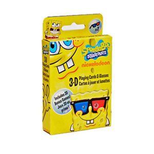 Nickelodeon Spongebob Squarepants 3D Playing Cards Glasses 3 D 3 D Bonus Games