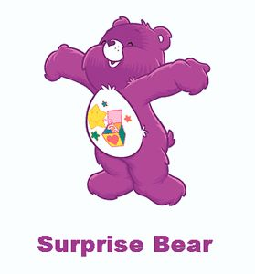 Care Bear Day Surprise Bear T Shirt Iron on Transfer 8x10 5x6 3x3 Light Fabric