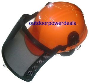Chainsaw Protective Safety Helmet Hard Hat Ear Muffs Face Shield