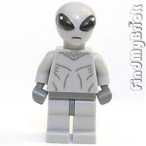 M157 Lego Gray Minifigure Classic Area 51 Alien UFO Gray Alien Only No Gun New