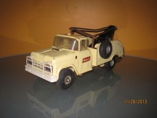 Vintage Buddy L Tow Truck Wrecker Fix My Flat Preseed Steel RARE