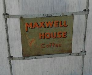 RARE Vintage Maxwell House Coffee Advertising Ad 2 Wheel Dolly Hand Truck