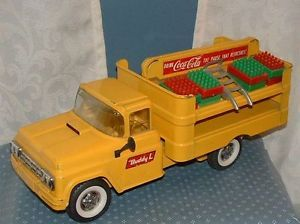 "Vintage Coca Cola Buddy ""L"" Delivery Truck w Cases Handtruck 1960 Coke"