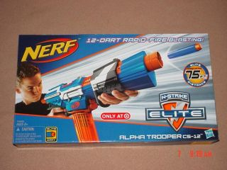 Nerf N Strike Elite Alpha Trooper CS 12 Exclusive 75 ft New