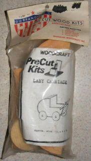 Wood Craft Pre Cut Kit Baby Carriage Brandine New