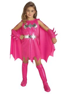 Pink Batgirl Supergirl Girl Superhero Fancy Dress Kids Toddler Costume Halloween