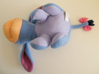 Disney Eeyore Fisher Price Waffle Thermal Baby Plush Rattle Lovey Baby Toy