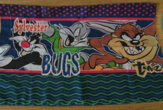 Bugs Bunny Taz Daffy Duck Warner Bros Kids Pillow Case