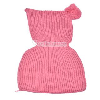 W3LE New Warm Cute Kids Toddlers Hooded Cape Scarf Shawl Knitting