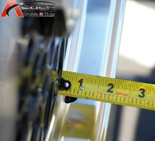 "15x7 RS Style 4x100 5x100 25 1 75 "" Lip Black Machined Lip Wheels Fit BMW Acura"