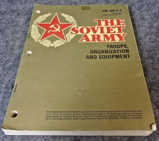 US Army Field Manual FM 100 2 3 The Soviet Army Troops Organization Equipment
