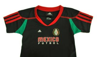 Adidas Futbol Soccer Mexico Team Black Jersey Infant Size S2PDB MX Black Red