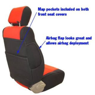 Jeep Liberty 2002 2003 2004 Coverking Neoprene Seat Covers Full Set with Logo