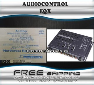 New Audio Control EQX 2 Channel Pre Amp Equalizer Crossover Speaker Level Input