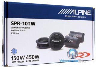 "Alpine SPR 10TW 1"" Car Audio Type R 450W Silk Dome Tweeters Crossovers New 793276011466"