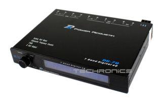 Power Acoustik DG7Q 7 Band Digital Car Audio EQ Subwoofer Crossover Equalizer