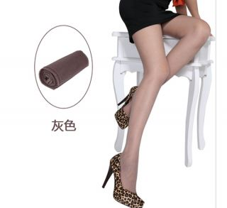 Fashion Women Transparent Scalable Tights Pantyhose Gray Color Stockings New