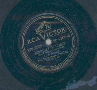 Eddy Arnold Texarkana Baby 78 RPM Record Bouquet Roses