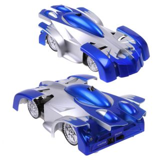 RC Remote Control Wall Floor Climbing Racing Car Toy Blue
