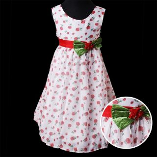 KD328 2 Couche Blanche Bonny Billy Filles Imprimé Roses Habiller Partie Robes