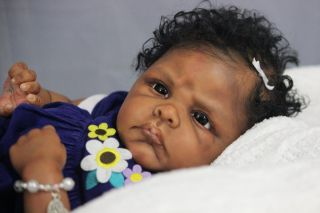 Gorgeous Reborn Ethnic AA Biracial Baby Girl Winnie by Emilie Jameson